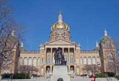 Staat Iowas-Kapitol-Gebäude horizontal Stockfotografie