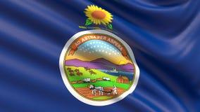 Staat Kansas-Flagge Markierungsfahnen der Zustände von USA stock abbildung