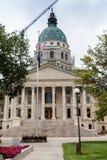 Staat Kansas-Kapitol-Gebäude, Topeka Stockbilder