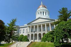 Staat Maine-Haus, Augusta Lizenzfreie Stockfotografie