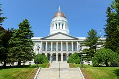 Staat Maine-Haus, Augusta Stockfotografie