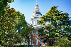 Staat Maryland-Kapital-Gebäude lizenzfreie stockfotos