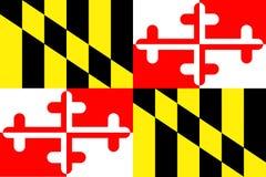 Staat Maryland-Markierungsfahne Lizenzfreie Stockbilder