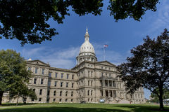 Staat Michigan-Kapitol stockfotos