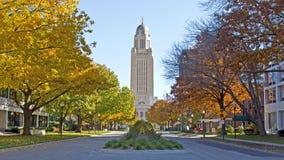 Staat Nebraska-Kapitol stockfotos