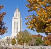 Staat Nebraska-Kapitol-Gebäude Lizenzfreies Stockfoto