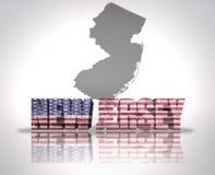 Staat New Jersey lizenzfreie abbildung