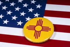 Staat New Mexiko in den USA stockfotografie