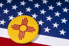 Staat New Mexiko in den USA lizenzfreies stockbild