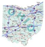 Staat Ohio-zwischenstaatliche Karte Stockfotografie