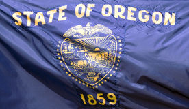 Staat Oregon-Markierungsfahne lizenzfreies stockfoto