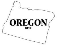 Staat Oregon und Datum Stockfoto