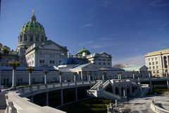 Staat Pennsylvania-Kapitol-Komplex Stockbild