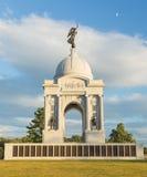 Staat Pennsylvania-Monument in Gettysburg Stockbilder
