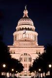 Staat Texas-Kapitol nachts Stockbild