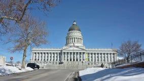 Staat Utah-Kapitol-Gebäude stock footage