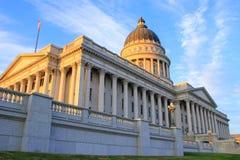Staat Utah-Kapitol in Salt Lake City am Abend Lizenzfreies Stockbild