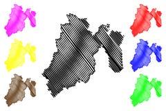 Staat van de kaartvector van Mexico vector illustratie