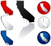 Staat van de Pictogrammen van Californië Stock Foto's