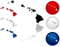 Staat van de Pictogrammen van Hawaï Royalty-vrije Stock Afbeelding