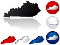Staat van de Pictogrammen van Kentucky royalty-vrije illustratie