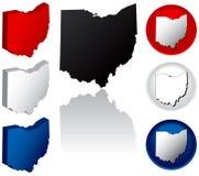 Staat van de Pictogrammen van Ohio Royalty-vrije Stock Fotografie