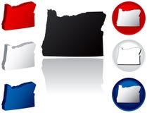 Staat van de Pictogrammen van Oregon stock illustratie