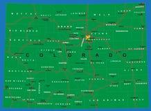 Staat van de politieke kaart van Colorado Royalty-vrije Stock Foto