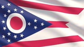 Staat van de vlag van Ohio Vlaggen van de staten van de V stock foto's