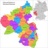 Staat van Duitsland - Rijnland-Palatinaat Stock Afbeelding