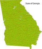 Staat van Georgië royalty-vrije illustratie