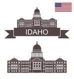 Staat van Idaho Het Kapitaal van de Staat van Idaho vector illustratie