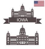 Staat van Iowa Het kapitaal van de staat van Iowa royalty-vrije illustratie