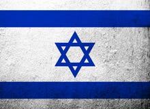 Staat van Israel National-vlag met Jodenster Kan als prentbriefkaar worden gebruikt stock illustratie