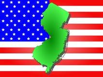 Staat van New Jersey Stock Afbeelding