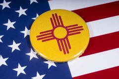 Staat van New Mexico in de V.S. stock afbeeldingen