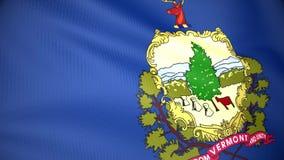 Staat Vermontmarkierungsfahne vektor abbildung