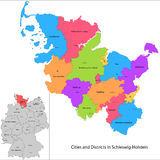 Staat von Deutschland - Schleswig-Holstein vektor abbildung
