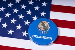 Staat von Oklahoma in den USA stockfotos