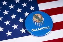 Staat von Oklahoma in den USA stockbild