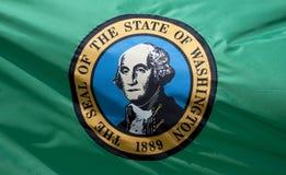 Staat Washington-Markierungsfahne Stockfoto