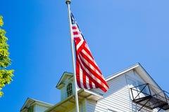 Staaten- von Amerikamarkierungsfahne Stockbilder