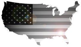 Staaten- von Amerikamarkierungsfahne Stockbild