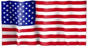 Staaten- von Amerikamarkierungsfahne Stockfotografie