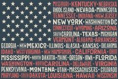 Staaten- von Amerikamarkierungsfahne Lizenzfreies Stockfoto