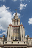 Staatliche Universität Lomonosov Moskau, Hauptgebäude, Russland Lizenzfreie Stockfotos