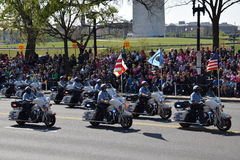 2016 Staatsangehöriger Cherry Blossom Parade im Washington DC Stockfotografie