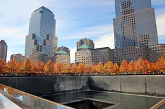 Staatsangehöriger 9/11 Memorial Park am Fall Lizenzfreie Stockfotografie