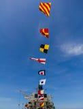 Staatsflagge auf Lieferung lizenzfreie stockbilder