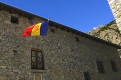 Staatsflagge von Andorra Lizenzfreies Stockfoto